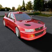 carro, carro subaru, carro para jogos 3d 3d model