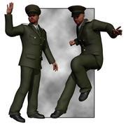 Uniform (M4) (für Poser) 3d model