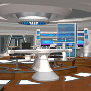 Starship Bridge XI (para Poser) 3d model