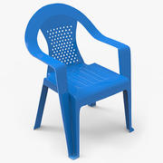 Plastikowe krzesło 3d model
