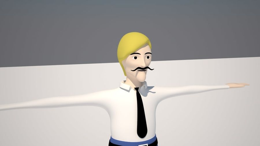 Ung man royalty-free 3d model - Preview no. 2