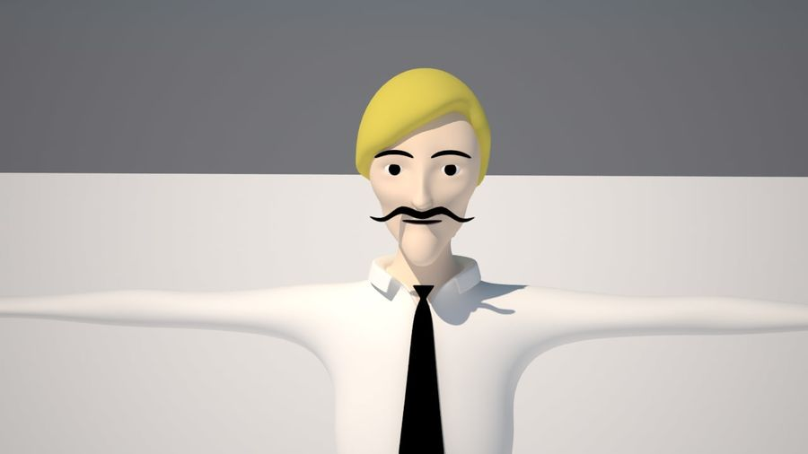 Ung man royalty-free 3d model - Preview no. 3