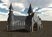 中世教会 3d model
