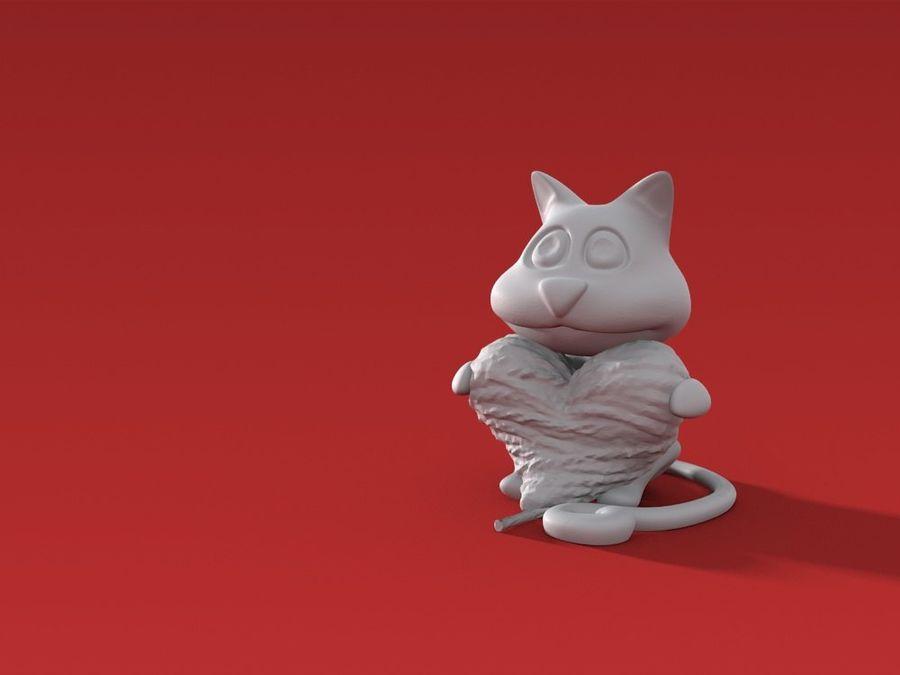 Valentine 3D Yazdırılabilir - Cat's Wool Heart royalty-free 3d model - Preview no. 5