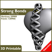 Valentine 3D Printable - Strong Bonds Pendant 3d model