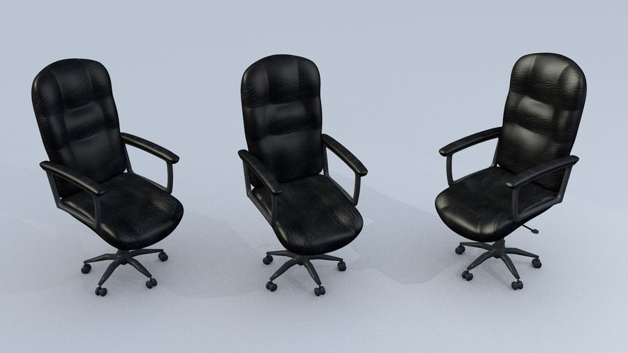 Computer Chair royalty-free 3d model - Preview no. 2