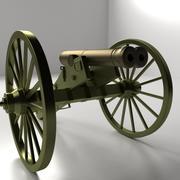 Double Barreled Cannon 3d model