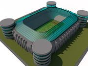 REAL MADRID FOOTBALL STADION 3d model