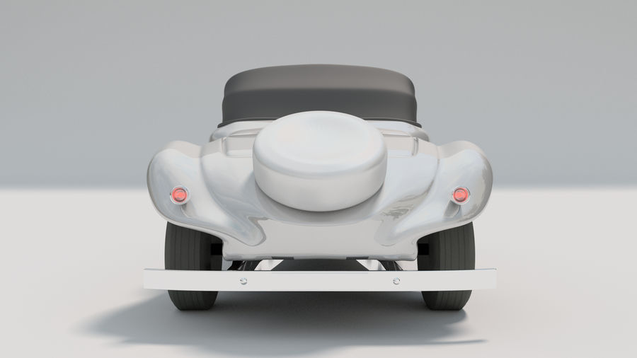 Antigo Citroen 11 CV royalty-free 3d model - Preview no. 4