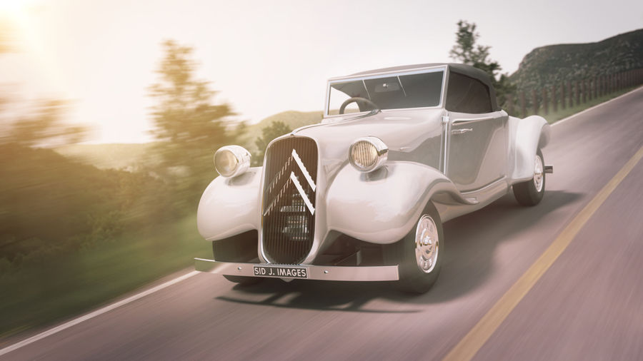 Antigo Citroen 11 CV royalty-free 3d model - Preview no. 7