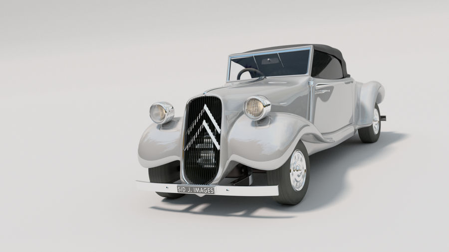 Antigo Citroen 11 CV royalty-free 3d model - Preview no. 1