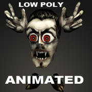 mini Vampire Low Poly Animated 3d model