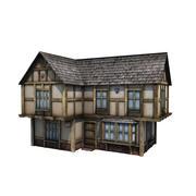 中世の建物15タウンハウス 3d model