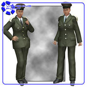 Uniform (V4) (für Poser) 3d model