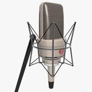 Microphone monté vintage 3d model