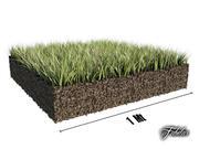 Grass patch 01 3d model