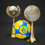 Copa de futbol modelo 3d