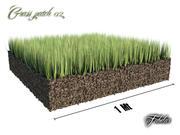 Grass patch 02 3d model
