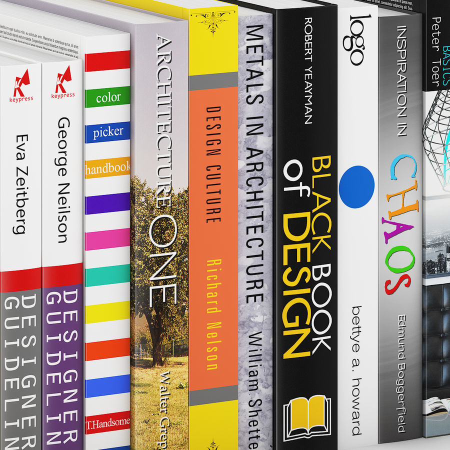 Architecture and Design Books 3 royalty-free 3d model - Preview no. 5