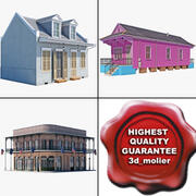 New Orleans Homes Collection 3d model