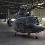 Eurocopter AS 565 Özel Siyah (2) 3d model