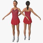 Kadınlar Artistik Patenci 3d model