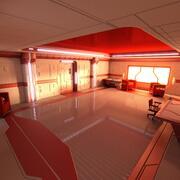 Scène d'appartement de science-fiction 3d model