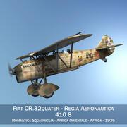 Fiat CR.32 - Aeronautica Militare Italiana - 410 Squadriglia 3d model
