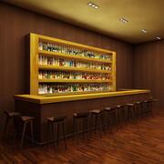 Barra 1 com 140 garrafas de licor 3d model