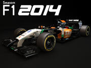 Force India VJM07 2014 3d model