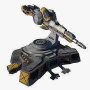 Futuristisch kanon 3d model