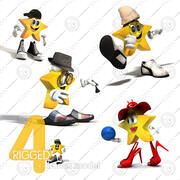 Cartoon Character Collection 3d model
