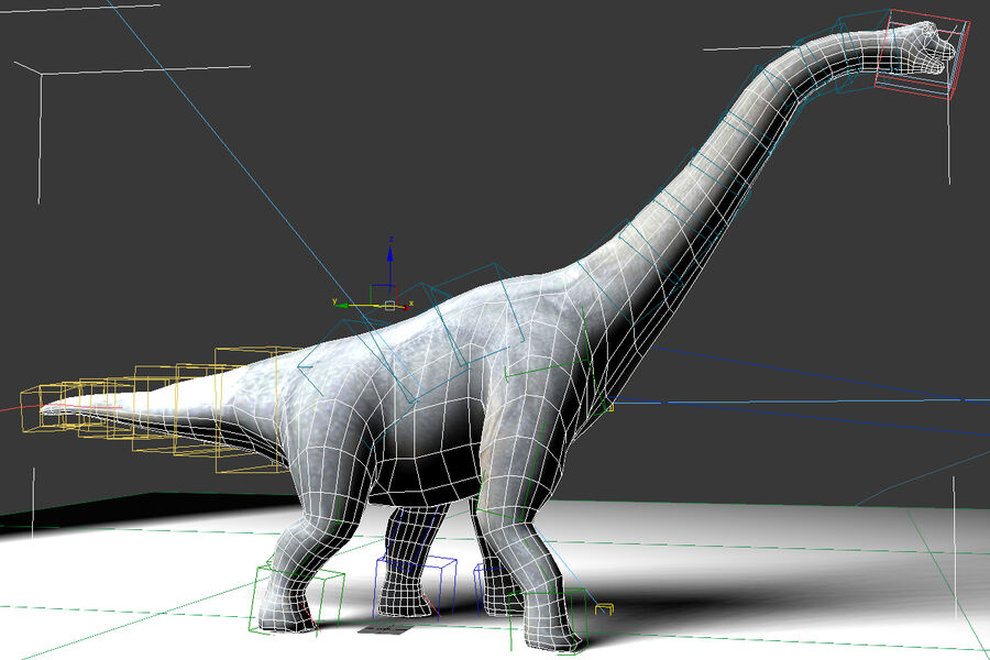 Brachiosaurus royalty-free 3d model - Preview no. 6