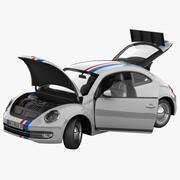 폭스 바겐 비틀 2012 경주 용 자동차 조작 3d model