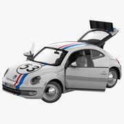 폭스 바겐 비틀 2012 경주 용 자동차 조작 2 3d model
