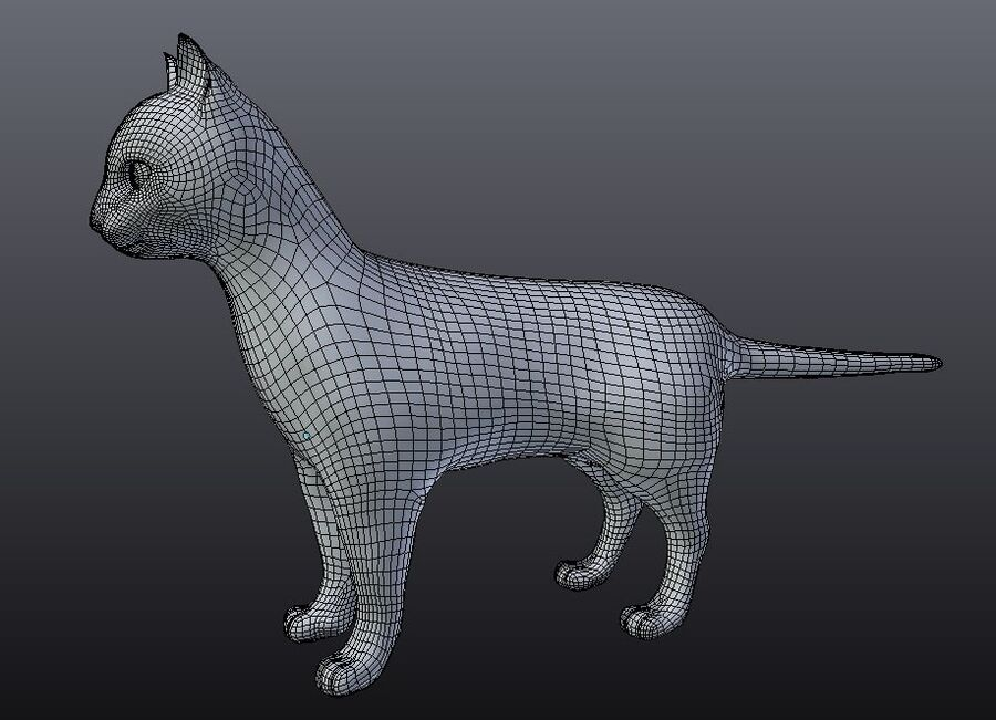 American Shorthair Cat royalty-free 3d model - Preview no. 11