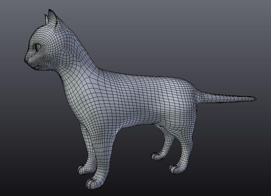 Kot amerykański krótkowłosy royalty-free 3d model - Preview no. 11