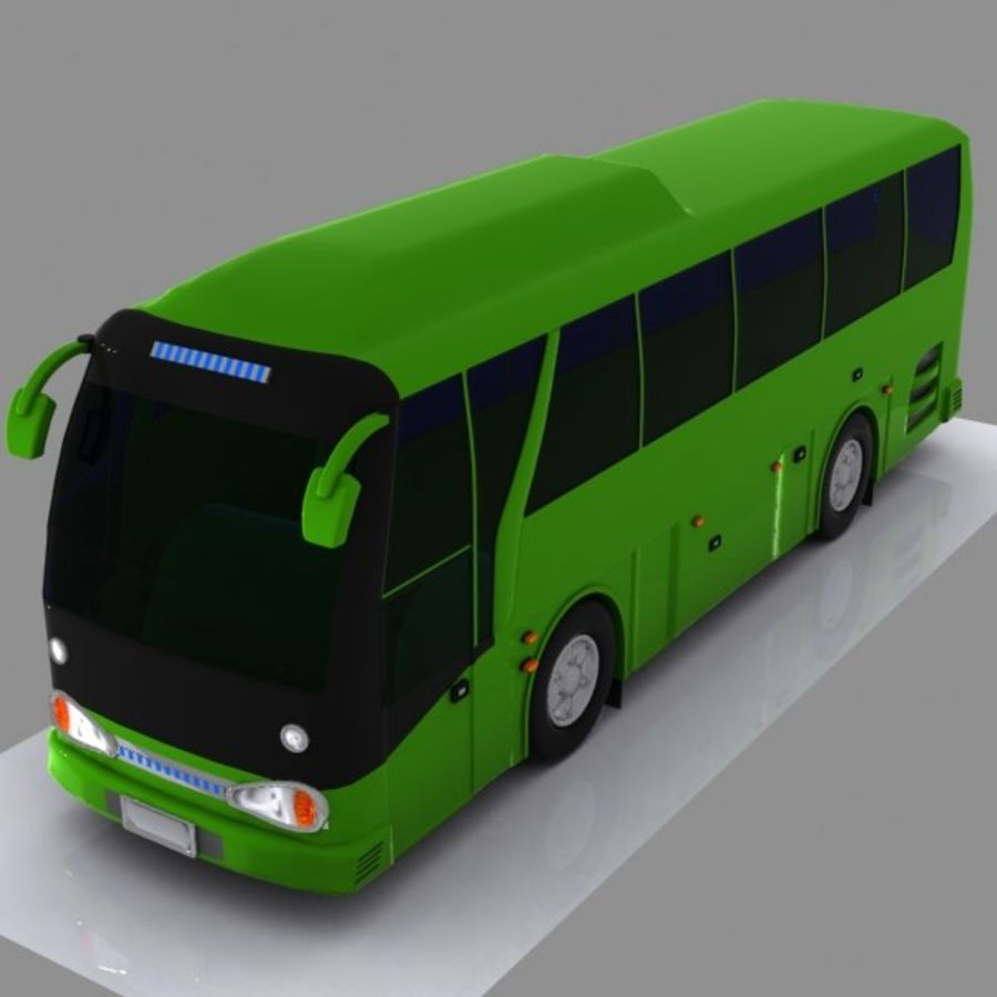 버스 royalty-free 3d model - Preview no. 2