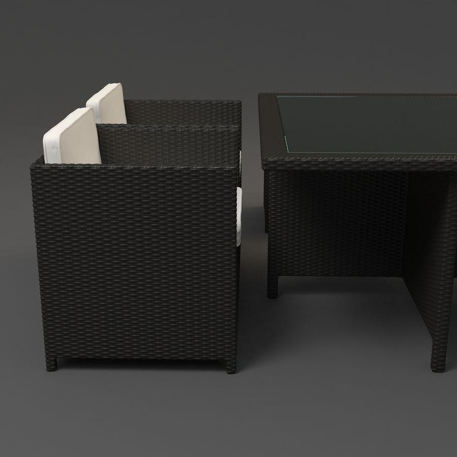 Utomhus dinrottning möbler set royalty-free 3d model - Preview no. 6