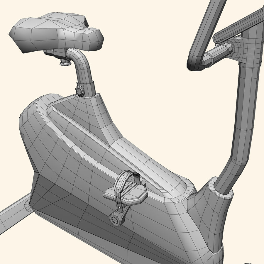 Exercise Bike royalty-free 3d model - Preview no. 8