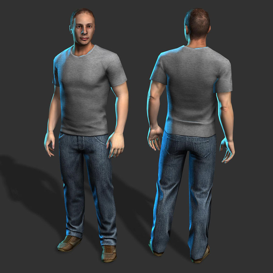 Average Man royalty-free 3d model - Preview no. 2