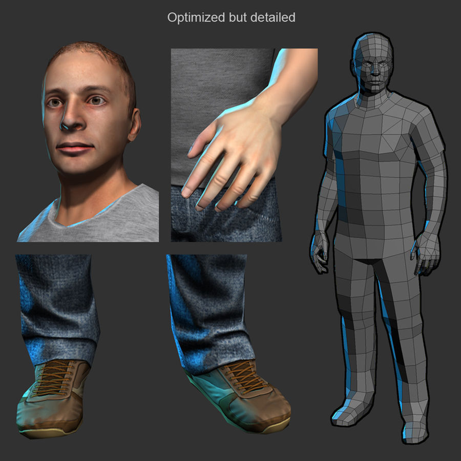 Average Man royalty-free 3d model - Preview no. 4