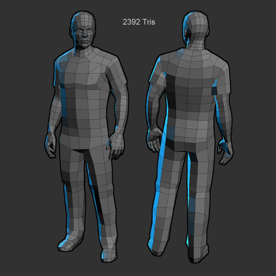 Average Man royalty-free 3d model - Preview no. 9