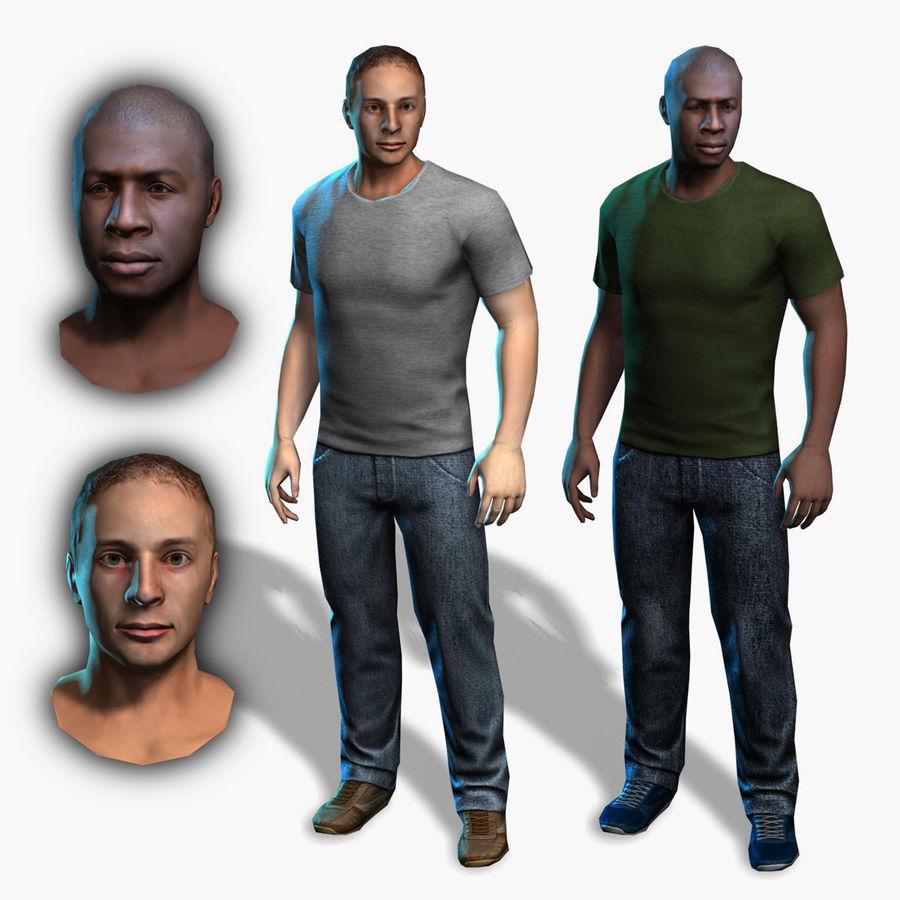Homem médio royalty-free 3d model - Preview no. 1