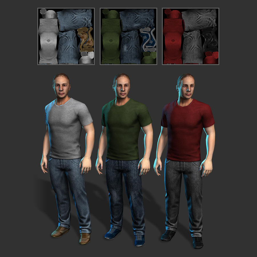 Average Man royalty-free 3d model - Preview no. 6