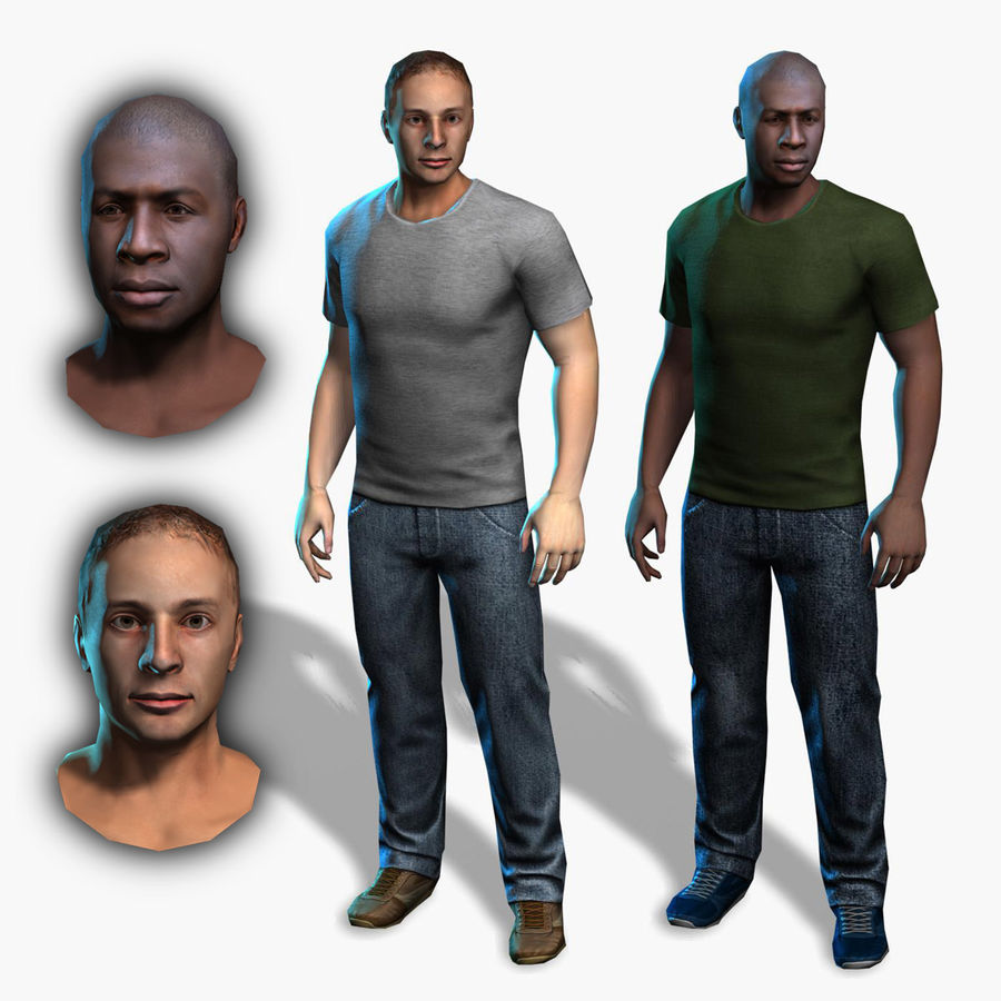 Average Man royalty-free 3d model - Preview no. 1