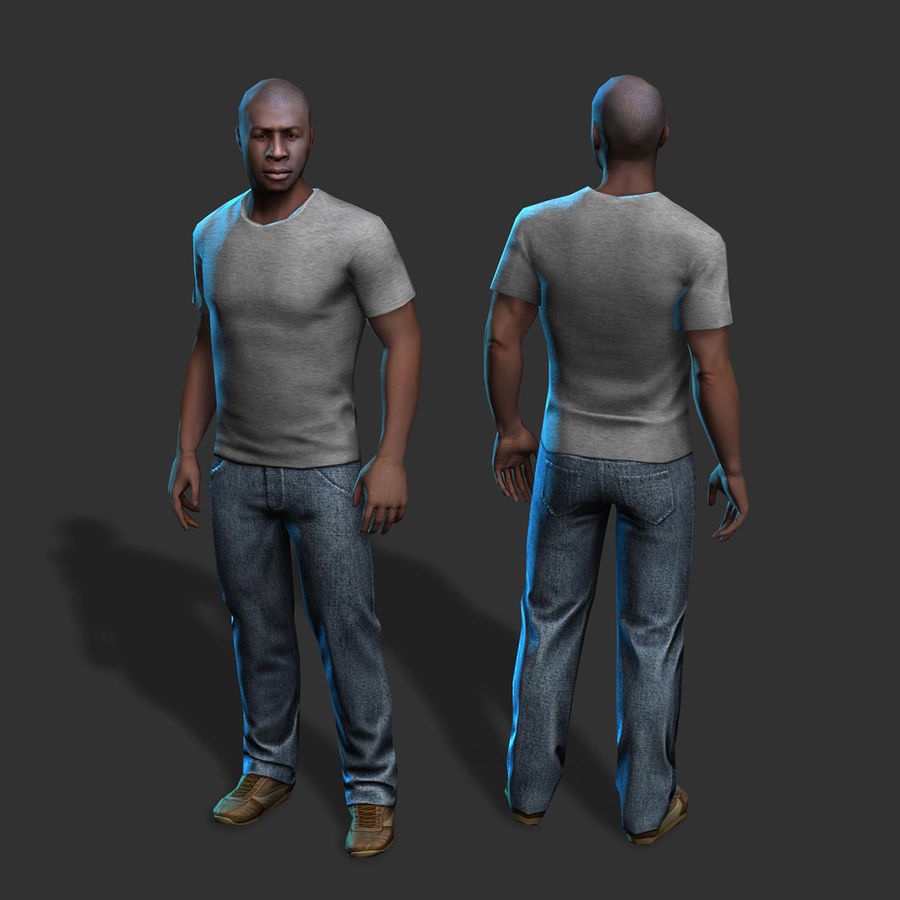 Average Man royalty-free 3d model - Preview no. 3