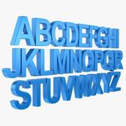 Alphabet - Arial (Subdivision) 3d model