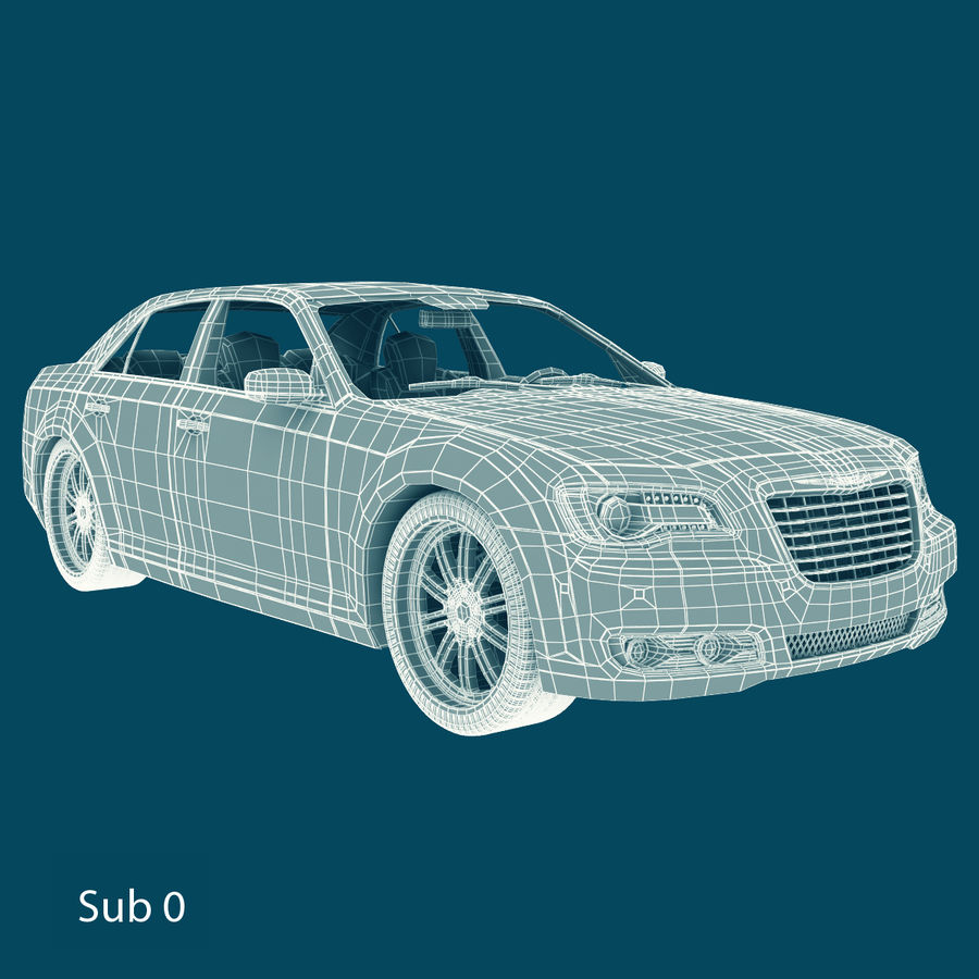 Chrysler 300 s royalty-free 3d model - Preview no. 14
