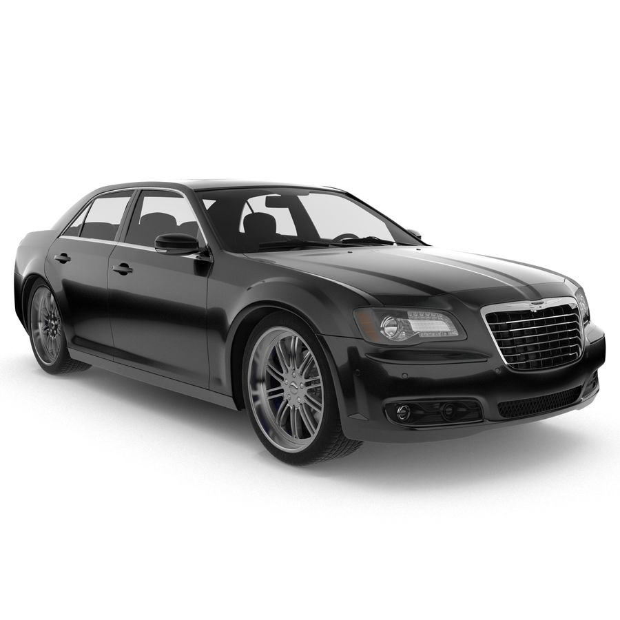 Chrysler 300 s royalty-free 3d model - Preview no. 3
